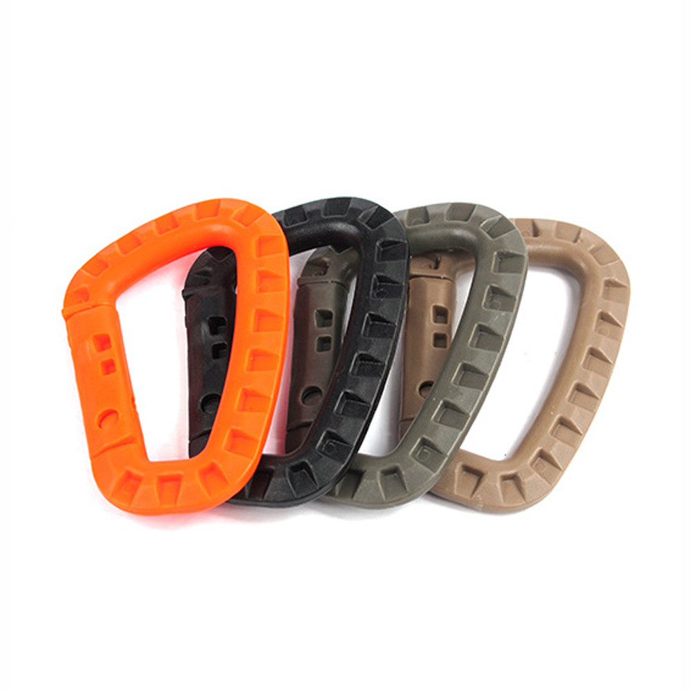 camping outdoor Multipurpose D-Ring Locking Hanging Hook Tactical Link Snap Keychain hiking accessories