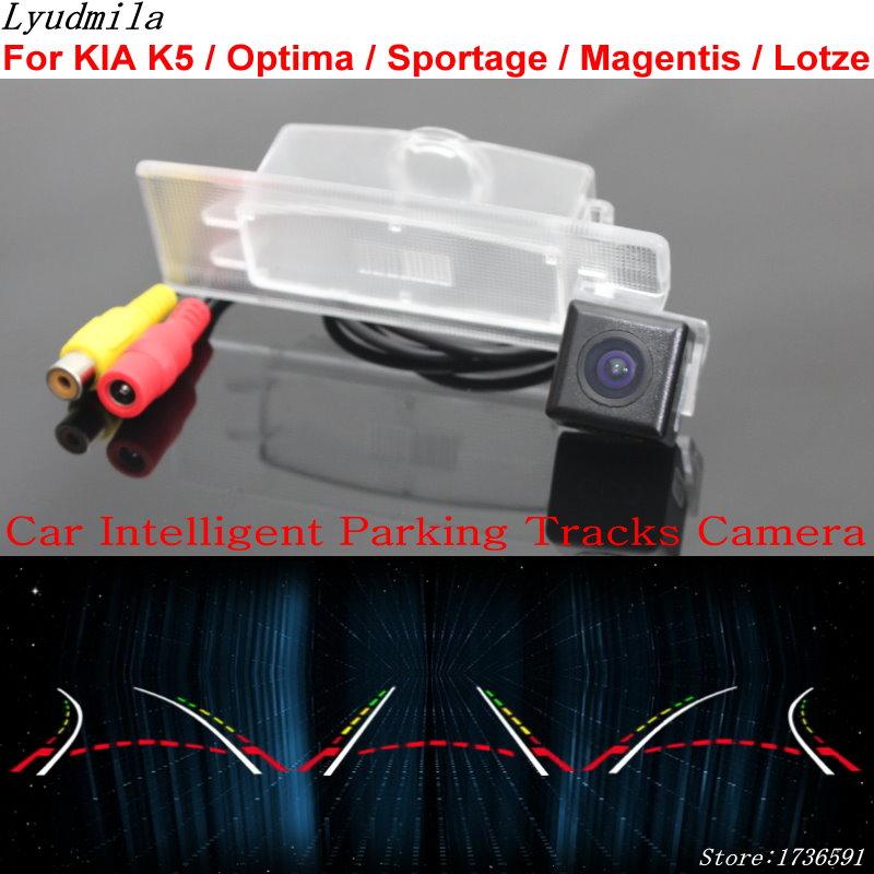 Lyudmila Car Intelligent Parking Tracks Camera FOR KIA K5 / Optima / Sportage / Magentis / Lotze HD Car Reverse Rear View Camera bigbigroad car intelligent dynamic track rear view camera reversing camera for kia k4 k5 k7 kx5 optima lotze cadenza sportage ql
