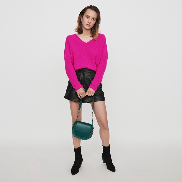 2019 осенние и зимние новые женские v образный вырез женское кашемировое простой вязаный свитер Топ