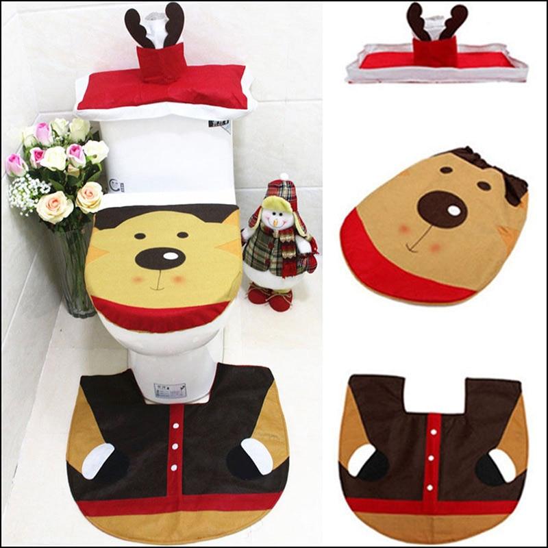 TTLIFE 3pcs set Fashion elk Household Pedestal Rug Bath Mat Lid Toilet Seat Covers Set. Popular Bath Rugs Toilet Seat Covers Buy Cheap Bath Rugs Toilet