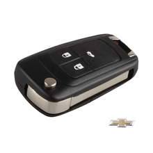 3 Button Flip Folding Remote Key Fob Case Uncut Blade For Chevrolet Cruze Aveo 2011-2012 Logo included