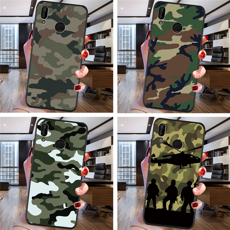Army Camouflage For Samsung Galaxy A9 A8 A7 A6 A5 A3 J3 J4 J5 J6 J8 Plus 2017 2018 M30 A40S A10 A20E Phone Case Cover Coque Etui