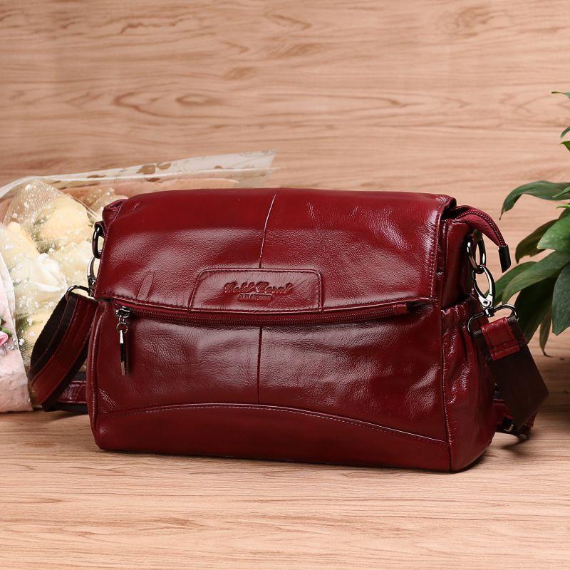GOLD CORAL Genuine Leather Crossbody for Women Shoulder Bag Designer Crossbody Messenger Travel Bags Mother Ladies
