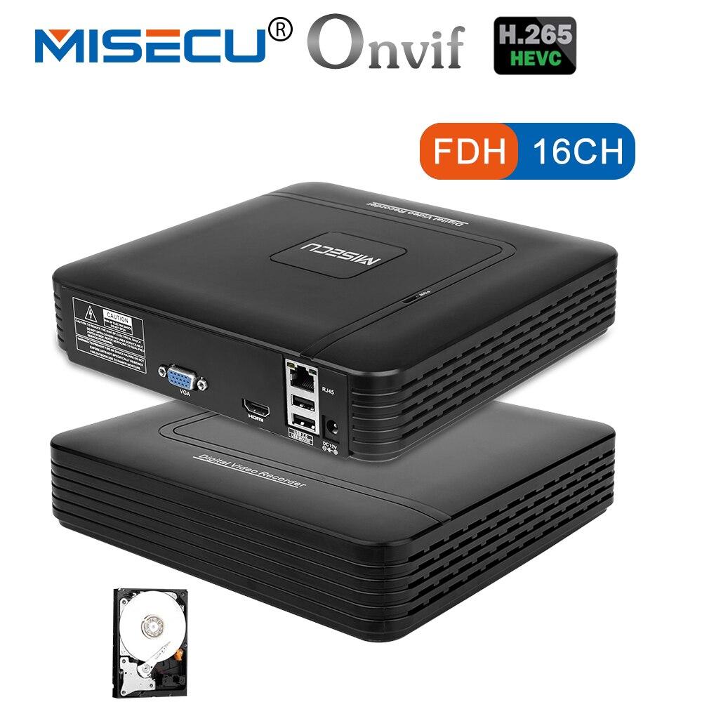 MISECU H.265 Mini NVR HD real P2P 16CH/8CH 5MP 16CH 1080 p grabadora de vídeo de movimiento de ONVIF IP Cámara sistema de seguridad