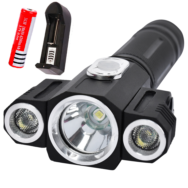 8000 Lumens Powerful Lanterna CREE XM-T6 Tactical Flashlight Torch Zoom Linternas LED Flashlight For 18650 Rechargeable Battery cree xm l2 8000 lumens lanterna x900 flashlight torch zoomable linternas led flashlight 3xaaa or 1x 18650 rechargeable battery