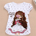 2016 Summer Girls Kids Short Sleeve Tees Clothing Children T Shirts 100% Cotton Youth Girls T-Shirts Clothes