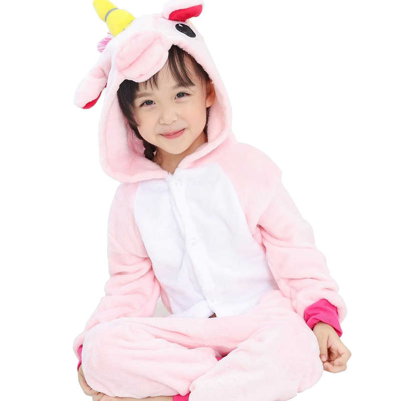 4415590c1 ... Flannel winter Pegasus christmas pajamas pink unicorn pajamas for girls  cartoon animals Hooded sleepwear onesie Boy ...