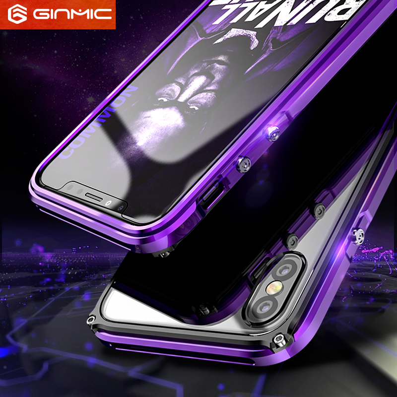 For Apple iphone X Ultra Thin Case Bumper Silm Frame X 10 Cover Metal Plastics 360 Full Protective Shell for iphone 10 X Clear