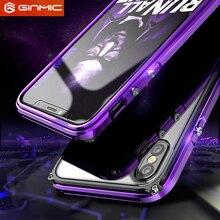 Metal çerçeve iPhone 11 Pro Max Silm temizle sert plastik geri zırh kapak iPhone XS için Max XR ultra ince aksesuarları