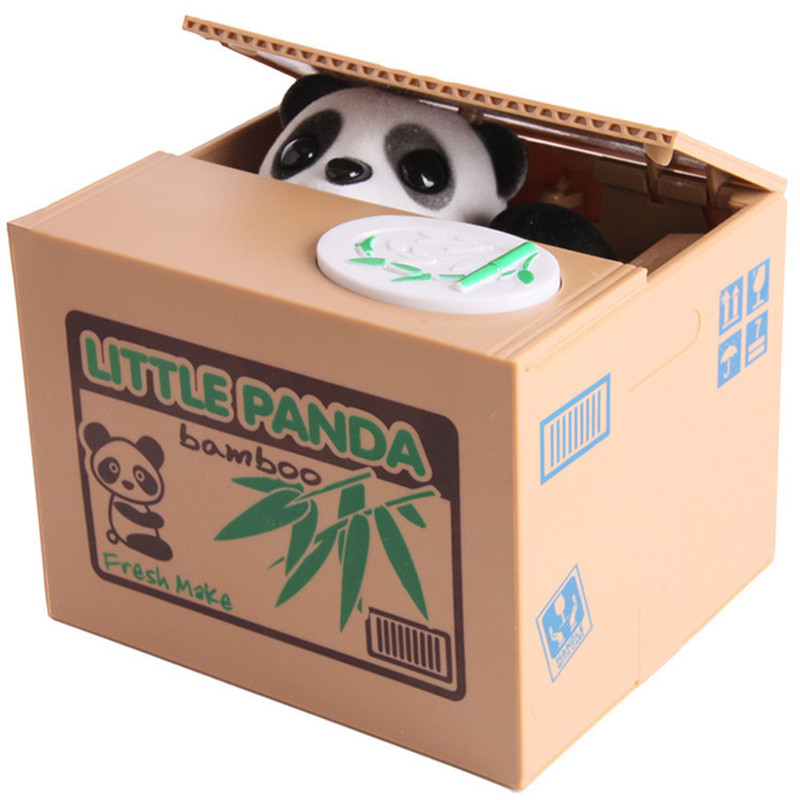 Gift Kids Save Money Steal Coin Electronic Plastic Safebox Cute Personality Funny Prank Save Panda Music Strong Box