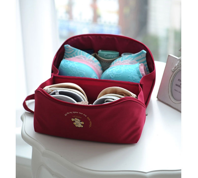 Women Underwear Storage Bag Portable Bra Bags Brand Quality Lingerie  Fashion Travel Cosmetic Toiletry Wash Case Organize Bags