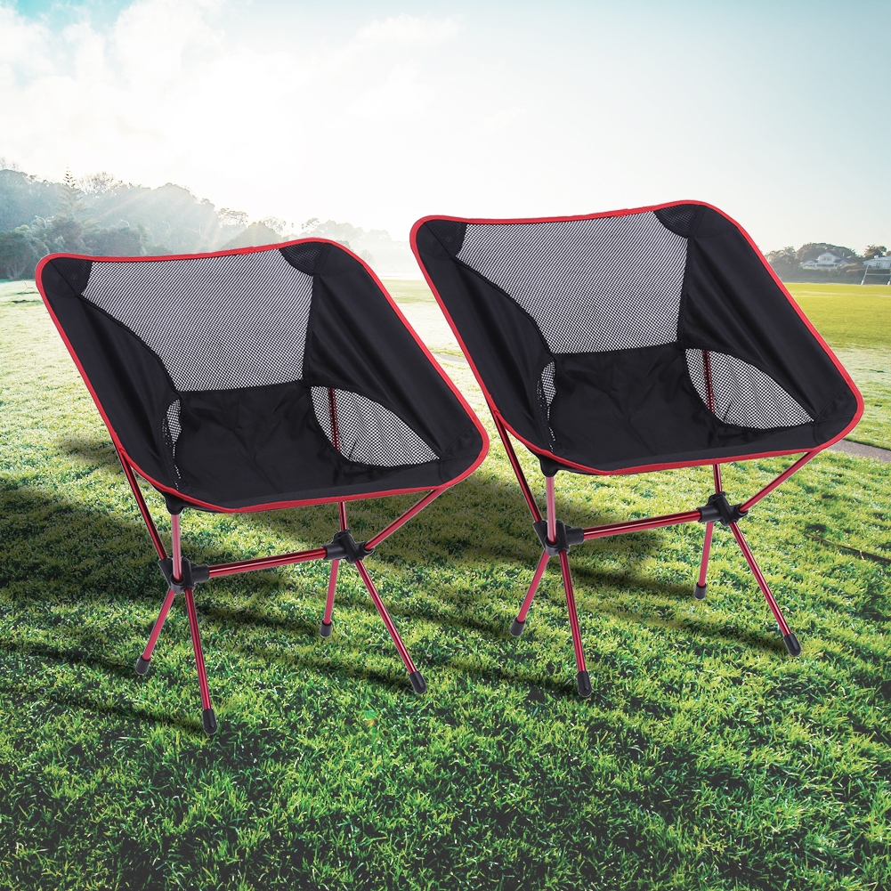 2PCS  Portable Folding Fishing Ultra light portable Chairs  Aluminium Extended Seat Chair for Camping Hiking Outdoor Activities outdoor traveling camping tripod folding stool chair foldable fishing chairs portable fishing mate fold metal chair