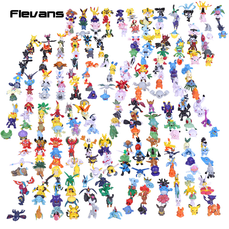 ФОТО Monster Mini PVC Figures Model Toys 288pcs/lot 1.5~4cm Kids Toys Christams & Birthday Gifts for Children