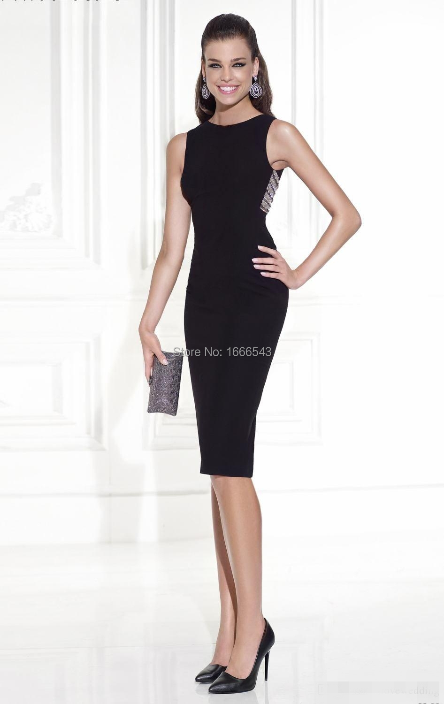 0d2372e563 Sheath Sexy Black Cocktail Dresses 2015 New Arrival High Neck Women Summer  Evening Gowns Cheap Party Dress Vestido De Fiesta-in Cocktail Dresses from  ...