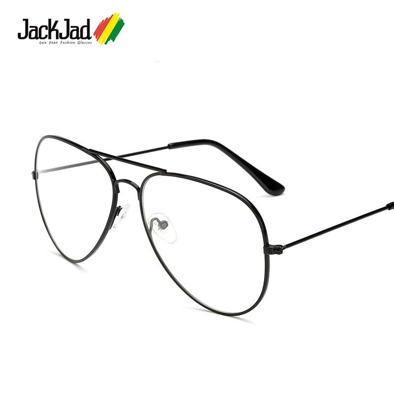 JackJad Fashion Classic Vintage Aviation Style Metal Frame Plain Glasses Brand Design Eyewear Frame Glasses Frame Oculos De Grau