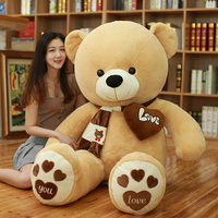 High quality 80/100CM 4 color teddy bear with scarf plush stuffed plush toy di bear couple birthday gift baby gift festival