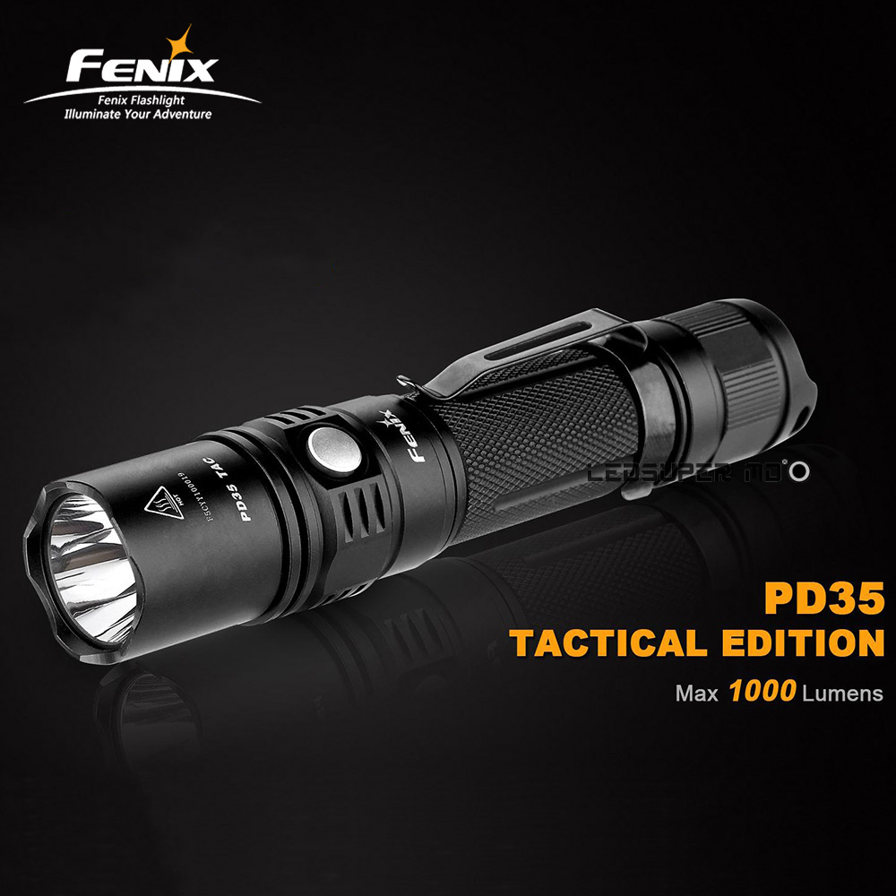 Rifle Light FENIX PD35 TAC / Tactical Edition 1000 Lumens LED Hunting Flashlight with 2-year Warranty  Rifle Light FENIX PD35 TAC / Tactical Edition 1000 Lumens LED Hunting Flashlight with 2-year Warranty