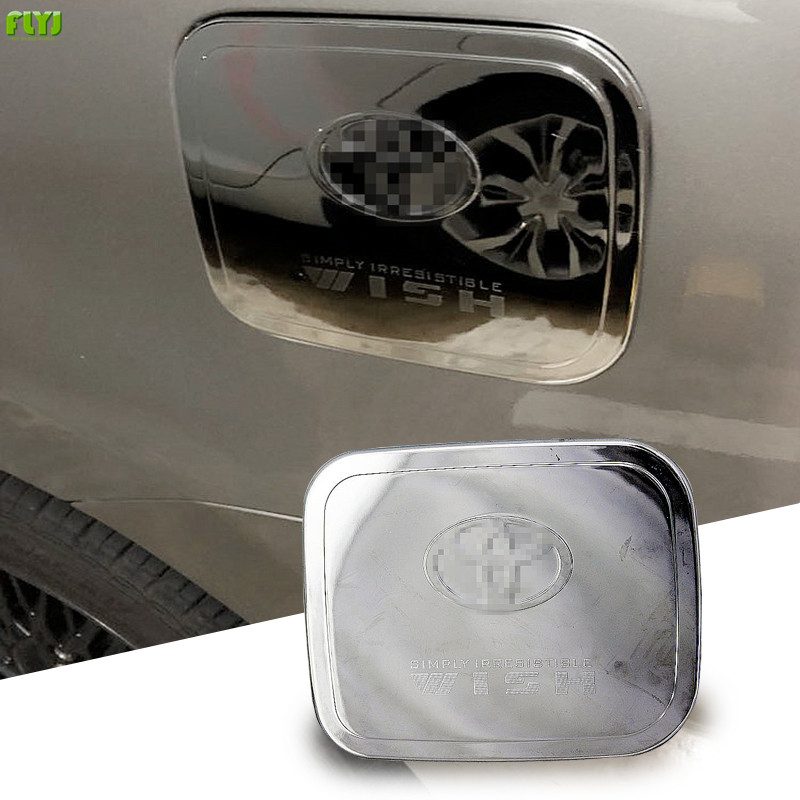 FLYJ ABS Chrome Car Styling Auto Oil Fuel Tank Cover Cap Car Sticker For Toyota 2003 2004 2005 2006 2007 2008  WISH