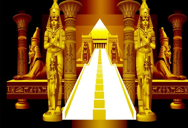 Laeacco Abstract Ancient Egyptian Palace Stairs To Throne