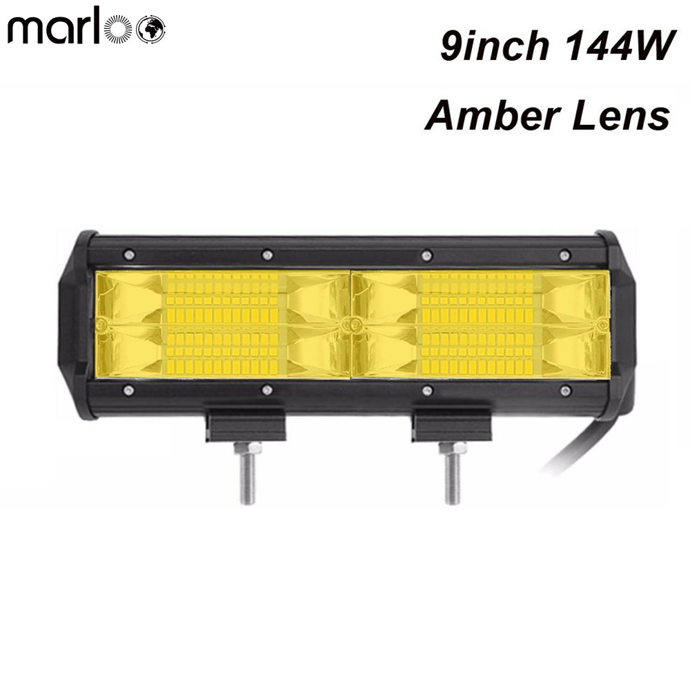 5/'/' 288W LED Work Light Bar Flood Driving Lamp For Jeep Truck Boat Offroad 6000K