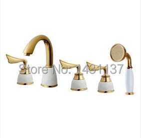 Di lusso in ottone materiale placcatura in oro bagno diffuso vasca ...