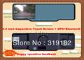 2013 New@free shippment@ 4.3 inch Capacitive Touch Screen Rear view mirror @Anti-dazzling blue membrane  mirror+ GPS++bluetooth