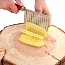 Stainless Steel Wave Potato Cutter Vegetable Cucumber Slicer Chopper Kitchen Gadget Cooking Tools(China)