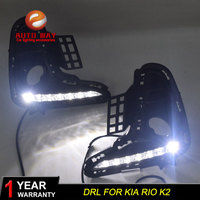 Case For Kia Rio K2 2017 2018 Turn Yellow Signal Relay 12V Car DRL Lamp Waterproof ABS LED Daytime Running Light