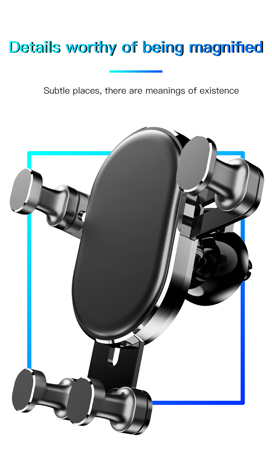 !ACCEZZ Universal Gravity Car Phone Holder In Car Air Vent Mount Stand For iPhone 6 7 8 X XS Samsung Xiaomi Mobile Phone Bracket (15)