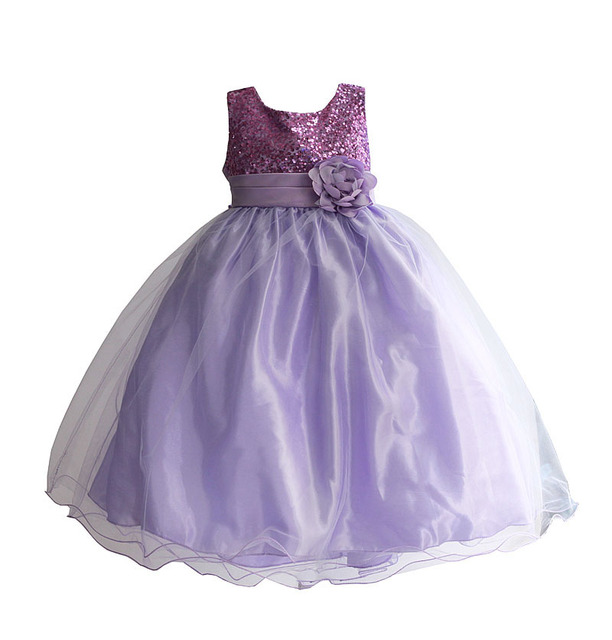 4 10T Girls Party Dress Colorful Sequined Kids Children Clothes Princess tutu long Wedding Costume for kids robe fille enfant