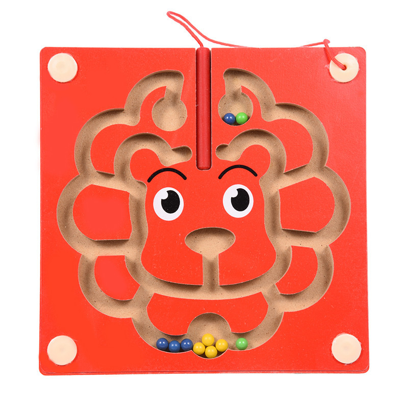 Sheep Shape Fiberboard Magnetic Maze Game Magnetic Pen Labyrinth Board Chess Intelligence Games Early Development Novelty Kids