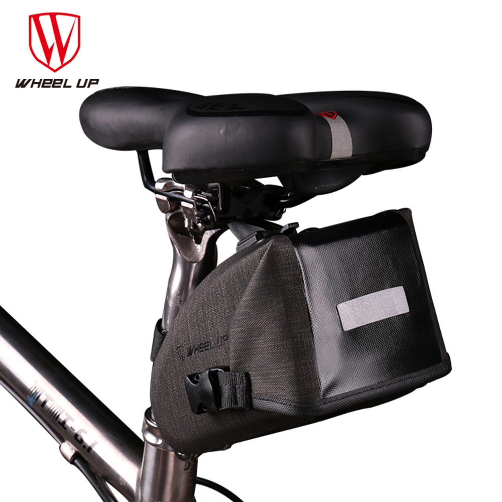 Roue vers le haut Tube imperméable réfléchissant vtt sac de vélo de route de montagne sac de cadre de selle de vélo sac de siège pour accessoires de vélo de vélo