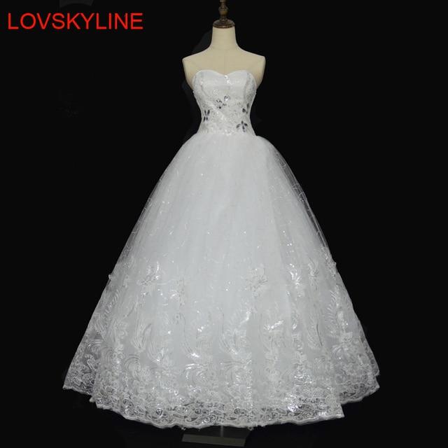 Distinctive Design Lace wedding dress formal dress 2018 bride tube top  wedding dress plus size slim luxury 0920bdb7ad35