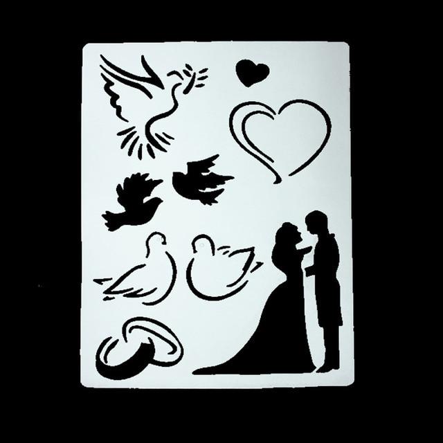 DIY Scrapbooking Lovers Wedding Ring Template Baking Kitchen ...