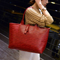 2016 New Women Fashion PU Leather Casual Tote Bag Alligator Pattern Solid Color Handbag Women Shoulder Bag Ladies Crossbody Bag