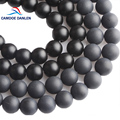 CAMDOE DANLEN Natural Stone Black Dull Polish Matte Agates Onyx Frost Glass Beads 4 6 8 10 12 14 mm Fit DIY For Jewelry Making