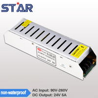 5A 24V 120W Aluminum Shell LED Lighting Switching Driver Transformer Power Supply Adapter Non Waterproof For