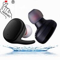 HUINIU Mini Wireless Bluetooth Headset V4 1 Waterproof Sport Running Earphones With Microphone For Iphone Samsung