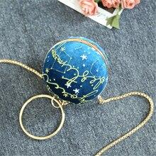 2019 Womens Star Velvet Bag Evening Bridal Wedding Round Ball Wrist Clutch Purse Handbag Globe Shape Party Bags