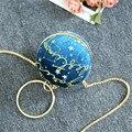 2019 frauen Stern Samt Tasche Abend Tasche Braut Hochzeit Runde Ball Handgelenk Tasche Kupplung Geldbörse Handtasche Globe Runde Form partei Taschen