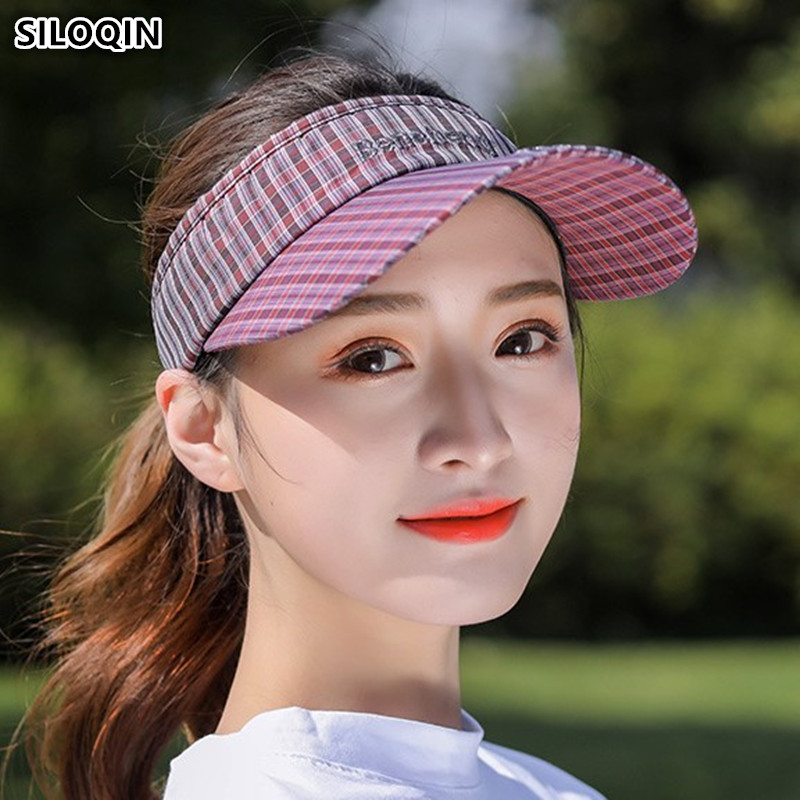 SILOQIN Adjustable Size Women 39 s Empty Top Baseball Cap Summer Sunscreen Topless Sport Tennis Caps For Women Youth Student Hats in Women 39 s Baseball Caps from Apparel Accessories