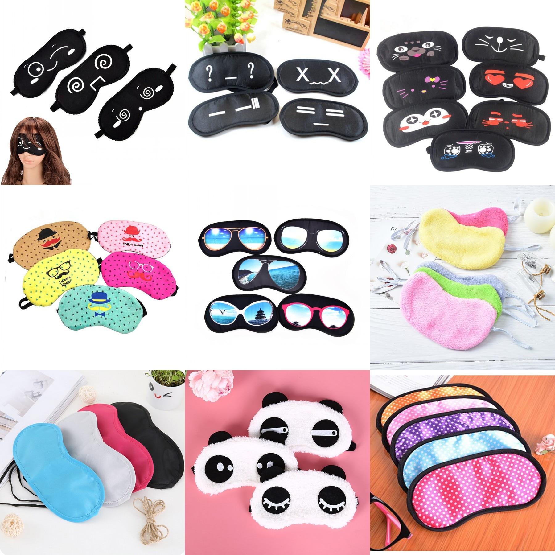Hot Sell Black Travel Sleeping Eye Mask Black Eye Shade Sleep Mask Black Mask Bandage On Eyes For Sleeping Emotion Sleep Mask