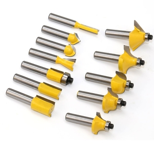 Image 2 - 12pcs/Set Woodworking Milling Cutters 6.35mm/8mm Shank Carbide Router Bit For Wood Engraving Cutting Tools