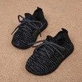 2016 outono crianças moda new shoes sapatilhas da criança das meninas dos meninos malha respirável sneakers pequenas crianças suave inferior shoes