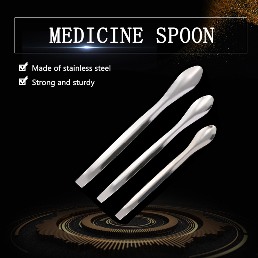 3pcs/set Single Head Stainless Steel Lab Instruments Medical Supplies Small Amount Spoon Shovel Scraper Experiment Medicine Spo