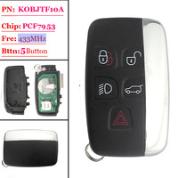 Big discount(1 piece) 4+1 Button Remote Key with 433MHZ FOR Land Rover Discovery(MIC) Smart keyless