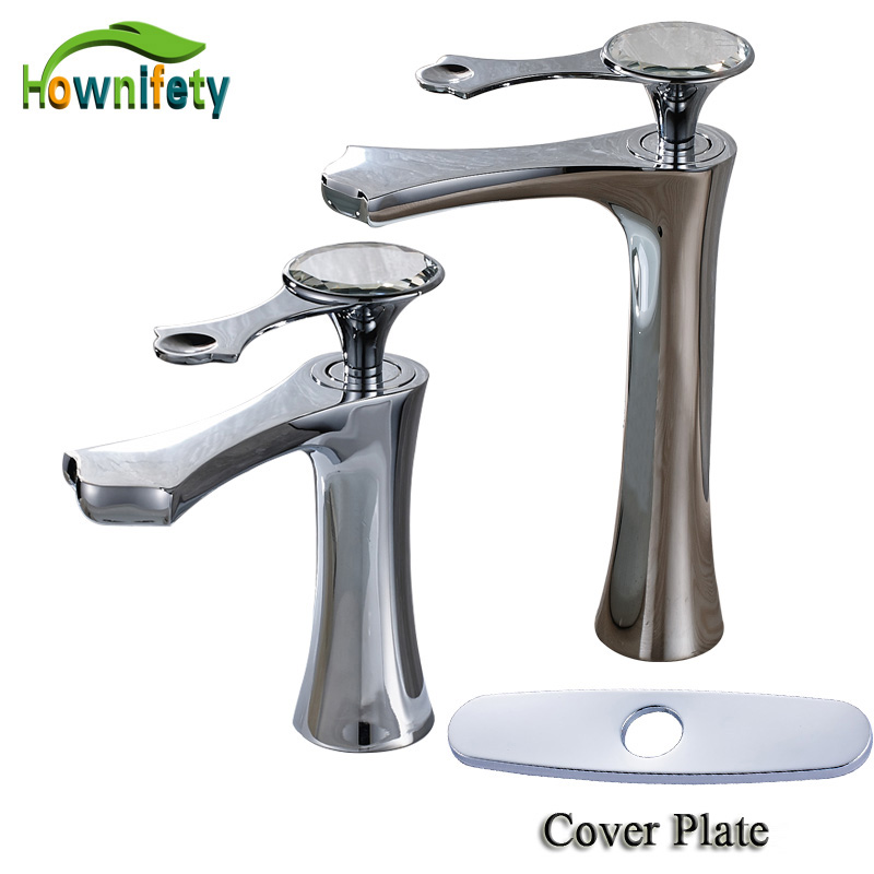 Chrome Polished High Quality Bathroom Sink Faucet Single Handle Solid Brass Mixer Tap Deck Mounted ceramic single handle bathroom vanity sink mixer tap chrome finished