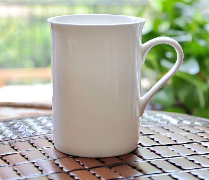 320ml Plain White Bone China Tumbler Ceramic Tea Mug Porcelain Taza Cafe Expresso Coffee Cup Coffe In Mugs From Home Garden On
