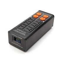 2018/TP1000 新ハイエンドオーディオノイズフィルタ、 3000 ワット Ac 電源コンディショナー、パワーフィルター、電源清浄機 led 電圧表示