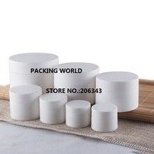 50G blanco esmerilado de plástico tarro de crema para los ojos/crema muestra/essence/arte de uñas cosmética olla/moisturier embalaje cosmético